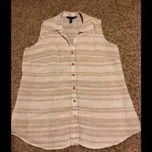 Ellen Tracy Linen Button Front shirt